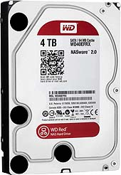 4TB 3.5 Zoll HDD SATA3 Western Digital Red WD40EFRX