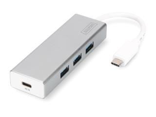 HUB 3-portowy Digitus USB 3.0 SuperSpeed z Typ C z Power Delivery