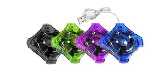 Hub USB 2.0 Esperanza 4 porty ''Star'' zielony