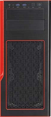 Obudowa serwerowa CSE-GS50-000R Gaming S5 Mid-Tower Red Chassis w/o Power Supply