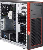 Obudowa serwerowa CSE-GS5A-753R (EOL)S5 Mid-Tower Chassis forSystem Assembly(Red Trim)w/750w